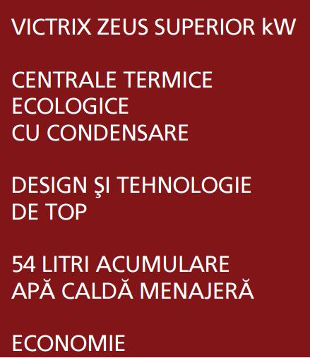 Centrala termica cu boiler incorporat VICTRIX ZEUS SUPERIOR 26 KW I