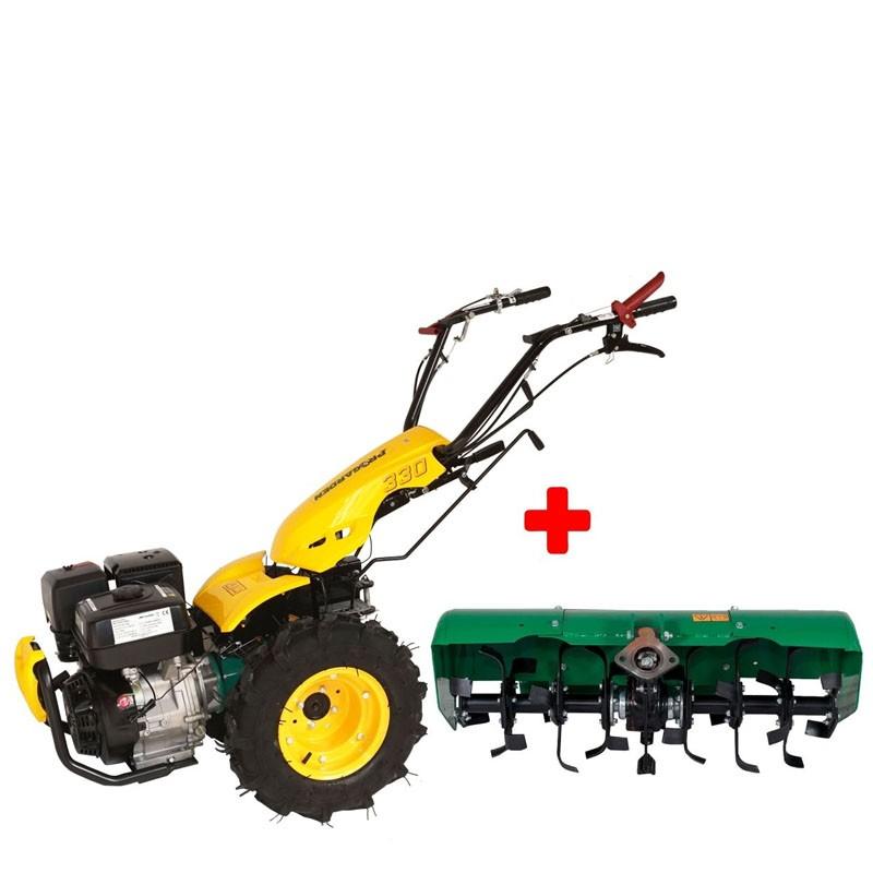 Poza Pachet motocultor multifunctional ProgardenBT330/G190,14 CP, benzina, 3+2 viteze, freza tractata BT-X90. Poza 11183