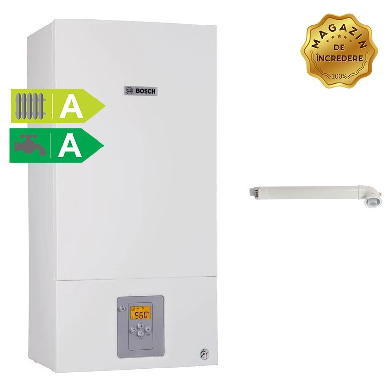 Poza Centrala termica murala cu condensare Bosch Condens 2500W 24 kW incalzire si 28 kW ACM WBC28-1DCE. Poza 11841