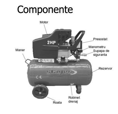 Componente compresor de aer Stager HM2050B 50L 8 BAR