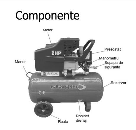 Componente compresor de aer Stager HM2024F 24L 8 BAR