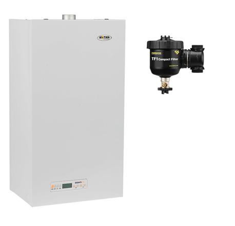 Pachet centrala termica Motan Sigma 24 Erp 24 kw + Filtru anti-magnetita Fernox TF1