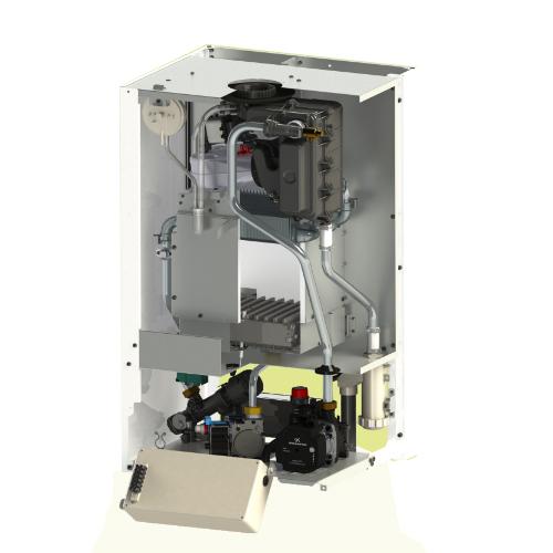 Structura interna centrala termica in condensatie Motan Green 24 kW