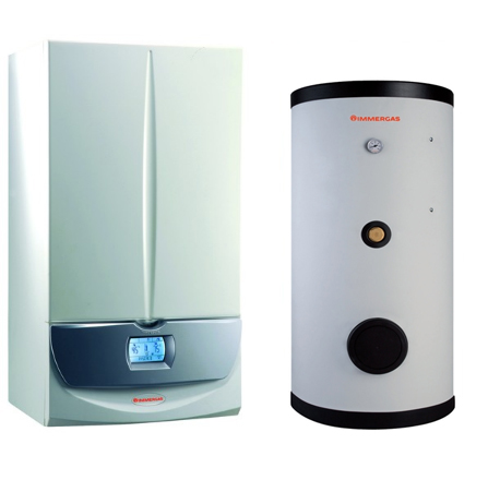 Pachet centrala termica Immergas Victrix Superior 32 X 2 ERP cu boiler Immergas UB INOXSTOR 300 ERP - 300 litri