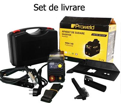 Set livrare Invertor MMA ProWeld MMA-140