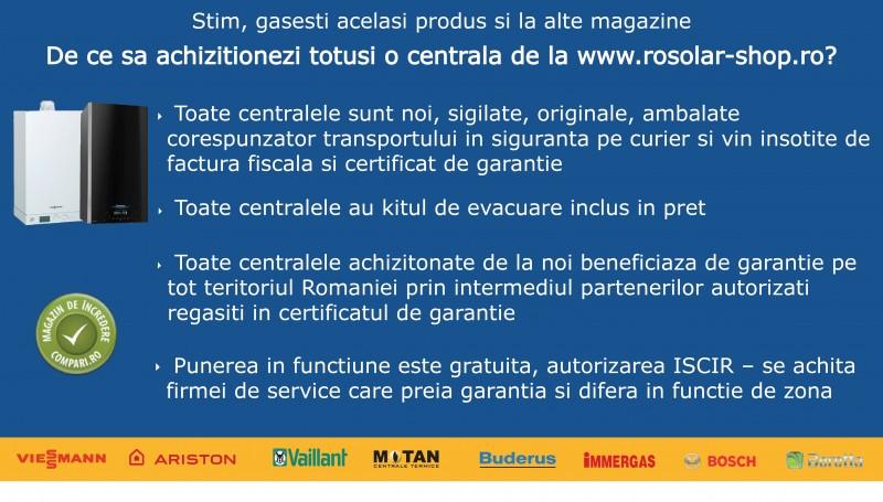 Pachet centrala termica Motan Sigma 24 Erp  24 kw + Filtru anti-magnetita Fernox TF1 + Kit accesorii instalare centrala. Poza 7095