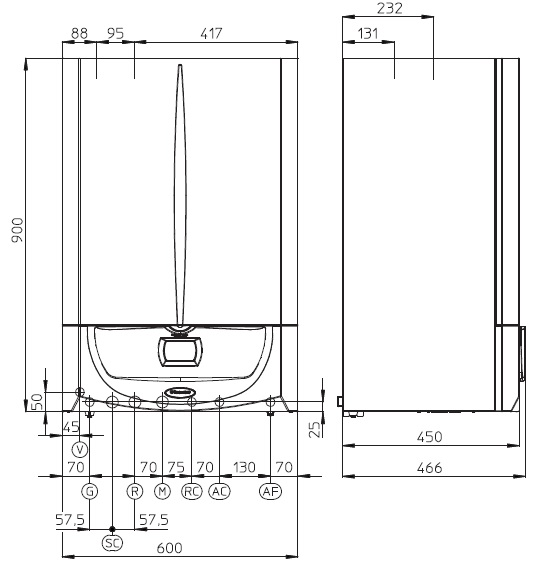 Centrala termica cu boiler incorporat VICTRIX ZEUS SUPERIOR 26 KW