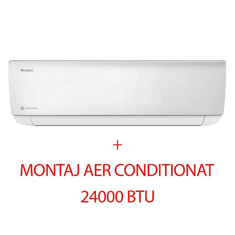 Poza Aer conditionat Gree GWH24AAD-K6DNA4A, Bora A4, Silver, 24000 BTU, wi-fi inclus, montaj inclus. Poza 9867