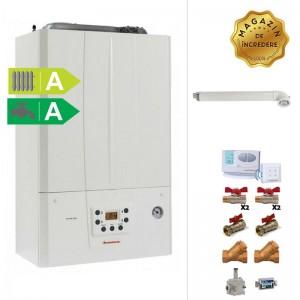 poza Pachet centrala termica in condensatie Immergas Victrix Tera 24/28 1 ERP 24 kw + Termostat de ambient + Kit accesorii instalare centrala