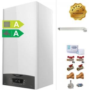 poza Pachet centrala termica in condensatie Ariston CLAS ONE 24 kW + Kit accesorii instalare centrala termica + Termostat de ambient