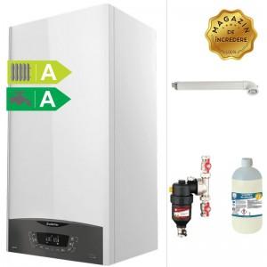 poza Pachet centrala termica in condensatie ARISTON CLAS ONE 24 kW + Filtru anti-magnetita Chemstal Cleanex MAG HF 3/4
