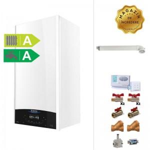 poza Pachet centrala termica in condensare Ariston Genus One 24 EU 24 KW + Termostat de ambient + Kit accesorii instalare centrala