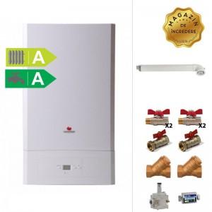 poza Pachet centrala termica Saunier Duval Semia Condens 25A - 25 kW + Kit accesorii instalare centrala