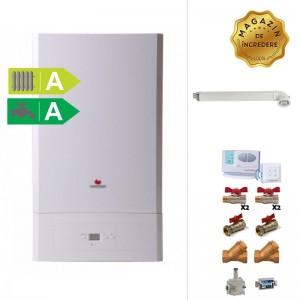 poza Pachet centrala termica Saunier Duval Semia Condens 25A - 25 kW + Kit accesorii instalare centrala + termostat de ambient wireless