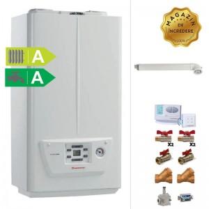 poza Pachet centrala murala in condensare Immergas Victrix Omnia 24 kW - ACM instant + termostat de ambient + Kit accesorii instalare centrala