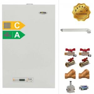 poza Pachet centrala termica cu tiraj fortat Motan Kplus 24 kW + Kit accesorii instalare centrala