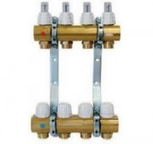 poza Distribuitor/colector alama cu debitmetre CAPRICORN 6 circuite Optimum 1 pentru incalzire in pardoseala