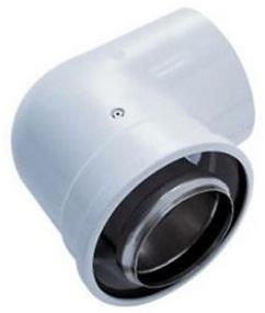 poza Cot coaxial 90 grade 80/125 condensatie