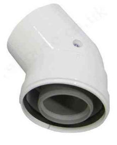 poza Cot coaxial 45 grade 80/125 condensatie