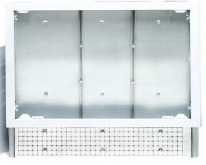 poza CASETA METALICA REGLABILA PENTRU COLECTOARE TIP  BARA/FLOOR  500 x 620 x 90 TIEMME