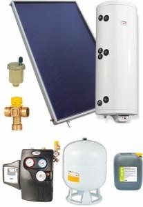 poza Pachet solar cu panouri plane si boiler 2 serpentine 7-8 persoane