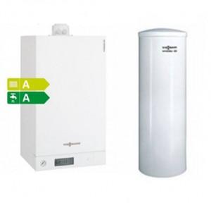 poza Centrala termica in condensare Viessmann Vitodens 100-W 26 kW cu boiler monovalent de 120 litri