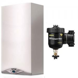 poza Pachet centrala termica in condensare Ariston CARES PREMIUM 24 EU 24 kW + Filtru anti-magnetita Fernox TF1