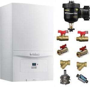 poza Pachet centrala termica in condensatie Vaillant EcoTEC PURE VUW 236/7-2 23 kW + Kit accesorii instalare centrala + Filtru anti-magnetita Fernox TF1