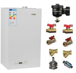 poza Pachet centrala termica cu tiraj fortat Motan Kplus C22 SPV 23 MEF 23 kW + Filtru anti-magnetita Fernox TF1 + Kit accesorii instalare centrala