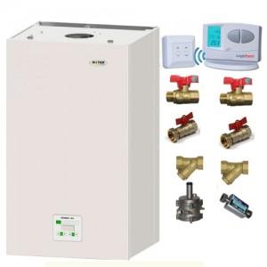 poza Pachet centrala termica in condensatie Motan Green 24 kW + Kit accesorii instalare centrala + Termostat de ambient