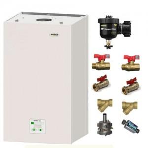 poza Pachet centrala termica in condensatie Motan Green 24 kW + Kit accesorii instalare centrala + Filtru anti-magnetita Fernox TF1