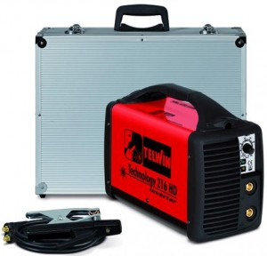 poza Invertor sudura TELWIN TECHNOLOGY 216HD + valiza transport aluminiu si accesorii