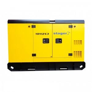poza Generator insonorizat Stager YDY12S3, silent 1500rpm, diesel, trifazat