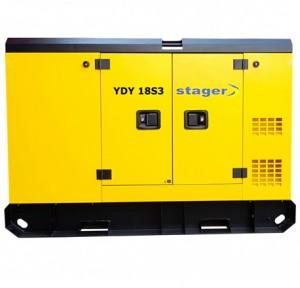 poza Generator insonorizat Stager YDY18S3, silent 1500rpm, diesel, trifazat