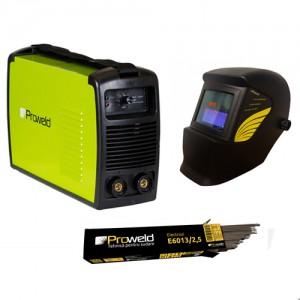 poza Pachet MMA-160PI + 5kg electrozi de 3,2, E6013 + masca automata YLM3200