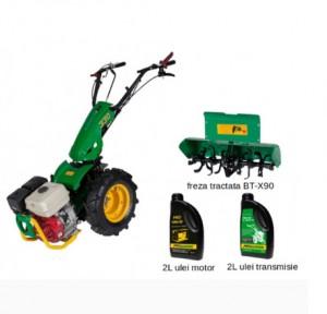 poza Pachet motocultor multifunctional + BT-X90 - Freza tractata + Ulei motor (2L) + Ulei transmisie (2L)