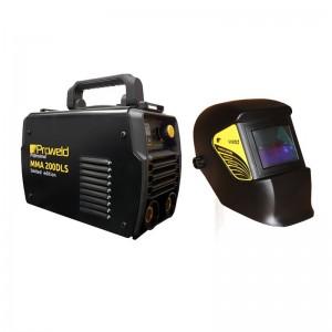 Poza Pachet invertor MMA ProWeld MMA-200DLS + masca de sudare ProWeld LYG-3200A. Poza 6427