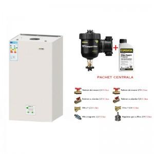 poza Pachet centrala termica in condensare Motan Green28 -C34GV28-P 28 kW + Kit accesorii instalare centrala + Filtru anti-magnetita Fernox TF1