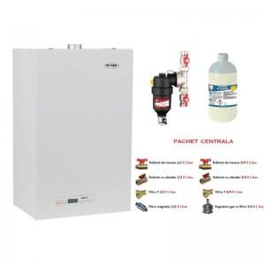 poza Pachet centrala termica Motan Sigma 24 Erp  24 kw  + Filtru anti-magnetita Chemstal Cleanex MAG HF 3/4 + Kit accesorii instalare centrala