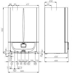 Poza Centrala termica cu boiler incorporat VICTRIX ZEUS SUPERIOR 26 KW