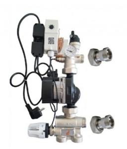 poza Grup pompare si amestec Purmo pentru incalzirea in pardoseala cu pompa Grundfos UPM3 Auto L 25-50
