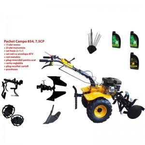 poza Pachet motocultor Progarden Campo 854, benzina, 7.5CP, 2+1 trepte, roti atv, manicot rulment, accesorii PR2, ulei motor si transmisie incluse