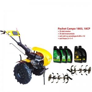 poza Pachet motocultor Progarden Campo 1803, benzina, EURO5, 18CP, 2+1 trepte, ulei motor si transmisie incluse