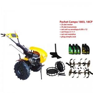 poza Pachet motocultor Progarden Campo 1803, benzina, EURO5, 18CP, 2+1 trepte, accesorii, ulei motor si transmisie incluse