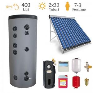 poza Pachet solar Sontec pentru 8 persoane – panou 60 tuburi vidate si boiler 400 L