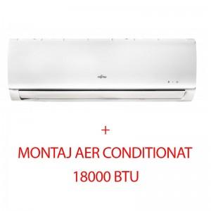poza Aparat de aer conditionat Inverter Fujitsu 18000 BTU ASYG18KLCA R32, Clasa Racire A++, inverter, Autorestart, montaj inclus